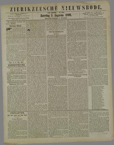 Zierikzeesche Nieuwsbode 1891-08-01
