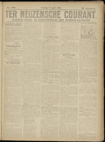 Ter Neuzensche Courant. Algemeen Nieuws- en Advertentieblad voor Zeeuwsch-Vlaanderen / Neuzensche Courant ... (idem) / (Algemeen) nieuws en advertentieblad voor Zeeuwsch-Vlaanderen 1924-04-04