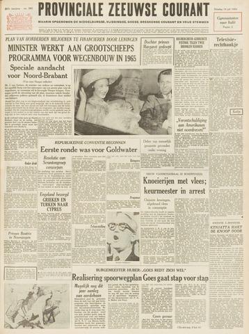Provinciale Zeeuwse Courant 1964-07-14