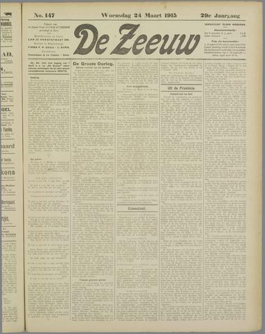 De Zeeuw. Christelijk-historisch nieuwsblad voor Zeeland 1915-03-24