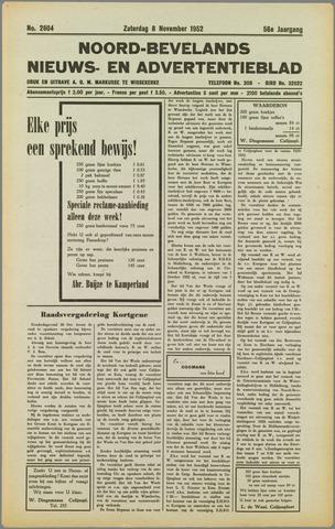 Noord-Bevelands Nieuws- en advertentieblad 1952-11-08