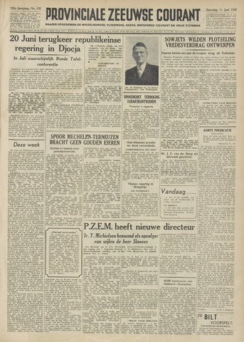 Provinciale Zeeuwse Courant 1949-06-11