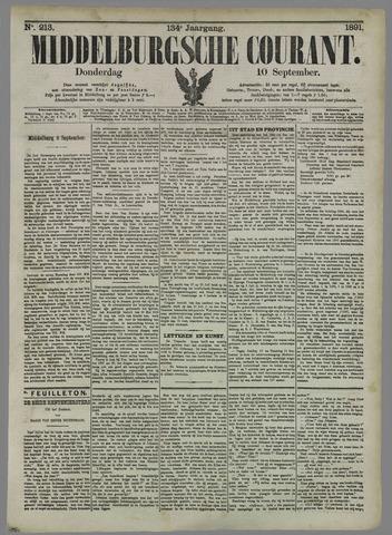 Middelburgsche Courant 1891-09-10