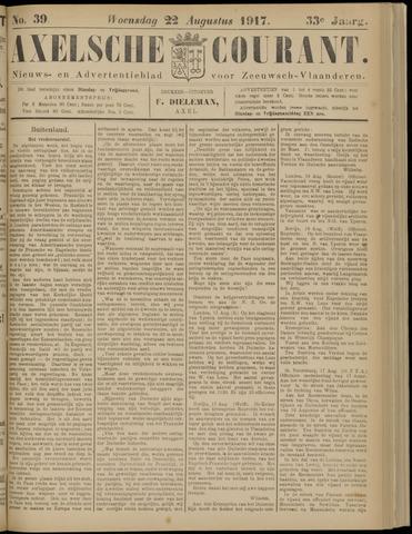 Axelsche Courant 1917-08-22