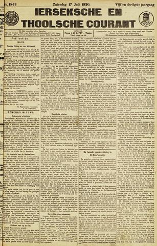 Ierseksche en Thoolsche Courant 1920-07-17