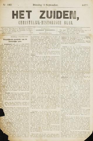 Het Zuiden, Christelijk-historisch blad 1877-09-04