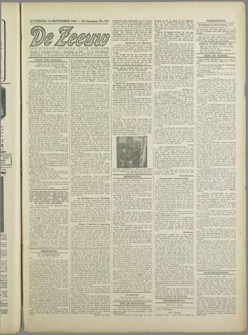 De Zeeuw. Christelijk-historisch nieuwsblad voor Zeeland 1943-09-18