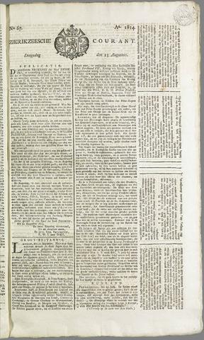 Zierikzeesche Courant 1814-08-23