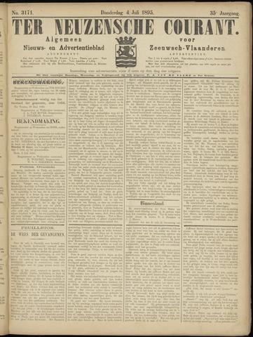 Ter Neuzensche Courant. Algemeen Nieuws- en Advertentieblad voor Zeeuwsch-Vlaanderen / Neuzensche Courant ... (idem) / (Algemeen) nieuws en advertentieblad voor Zeeuwsch-Vlaanderen 1895-07-04