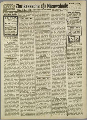 Zierikzeesche Nieuwsbode 1922-09-15
