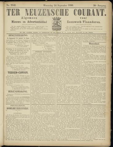 Ter Neuzensche Courant. Algemeen Nieuws- en Advertentieblad voor Zeeuwsch-Vlaanderen / Neuzensche Courant ... (idem) / (Algemeen) nieuws en advertentieblad voor Zeeuwsch-Vlaanderen 1890-09-24