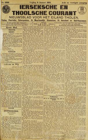 Ierseksche en Thoolsche Courant 1931
