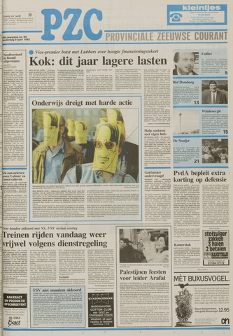 Provinciale Zeeuwse Courant 1992-04-09