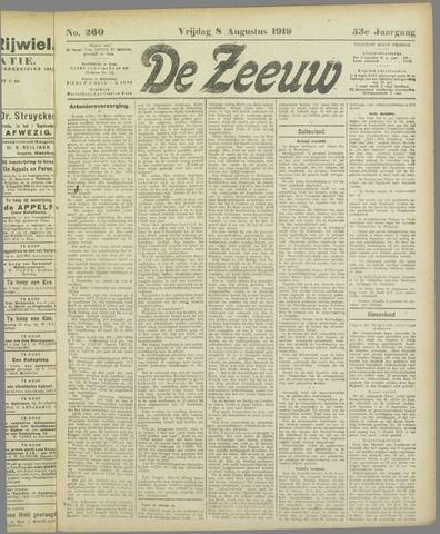 De Zeeuw. Christelijk-historisch nieuwsblad voor Zeeland 1919-08-08