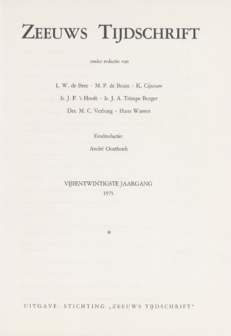 Zeeuws Tijdschrift 1975-01-01