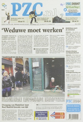 Provinciale Zeeuwse Courant 2008-12-02