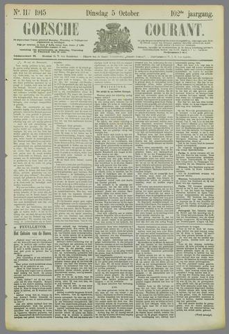 Goessche Courant 1915-10-05
