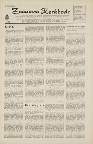 Zeeuwsche kerkbode, weekblad gewijd aan de belangen der gereformeerde kerken/ Zeeuwsch kerkblad 1965-08-20