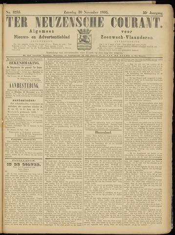 Ter Neuzensche Courant. Algemeen Nieuws- en Advertentieblad voor Zeeuwsch-Vlaanderen / Neuzensche Courant ... (idem) / (Algemeen) nieuws en advertentieblad voor Zeeuwsch-Vlaanderen 1895-11-30