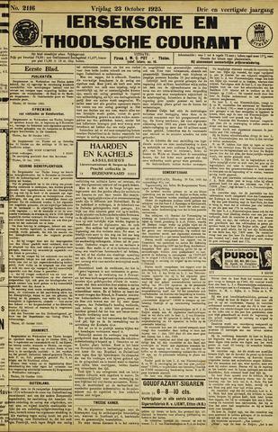 Ierseksche en Thoolsche Courant 1925-10-23