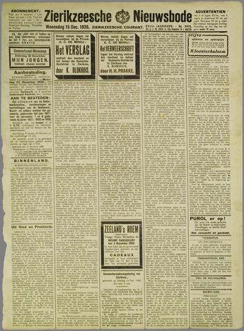 Zierikzeesche Nieuwsbode 1926-12-15