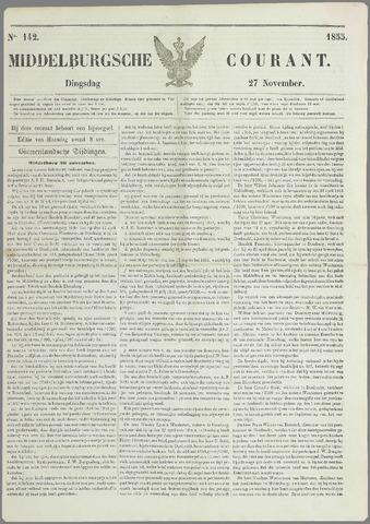 Middelburgsche Courant 1855-11-27