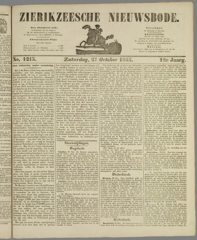 Zierikzeesche Nieuwsbode 1855-10-27