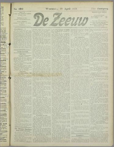 De Zeeuw. Christelijk-historisch nieuwsblad voor Zeeland 1918-04-10