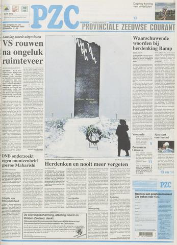 Provinciale Zeeuwse Courant 2003-02-03