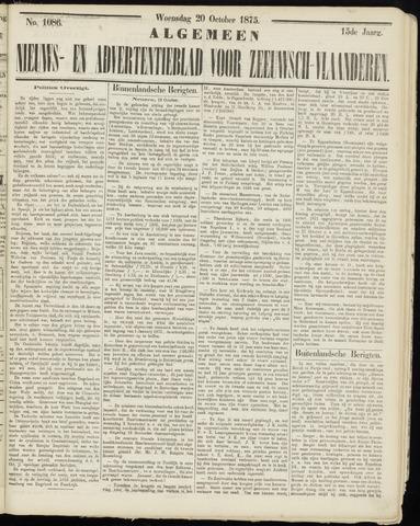 Ter Neuzensche Courant. Algemeen Nieuws- en Advertentieblad voor Zeeuwsch-Vlaanderen / Neuzensche Courant ... (idem) / (Algemeen) nieuws en advertentieblad voor Zeeuwsch-Vlaanderen 1875-10-20