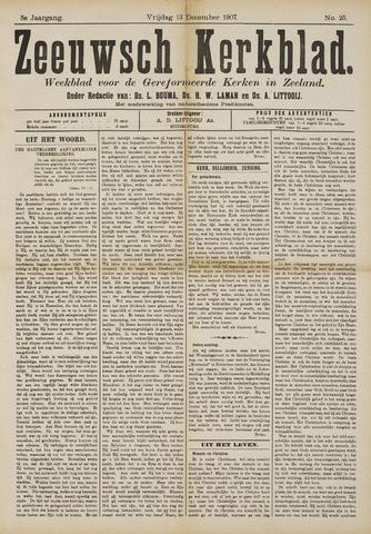 Zeeuwsche kerkbode, weekblad gewijd aan de belangen der gereformeerde kerken/ Zeeuwsch kerkblad 1907-12-13