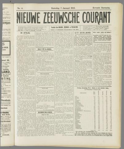 Nieuwe Zeeuwsche Courant 1911-01-07