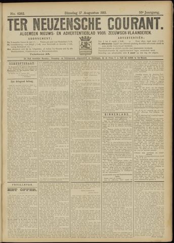 Ter Neuzensche Courant. Algemeen Nieuws- en Advertentieblad voor Zeeuwsch-Vlaanderen / Neuzensche Courant ... (idem) / (Algemeen) nieuws en advertentieblad voor Zeeuwsch-Vlaanderen 1915-08-17