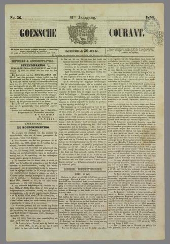 Goessche Courant 1854-07-20