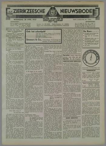 Zierikzeesche Nieuwsbode 1937-04-28