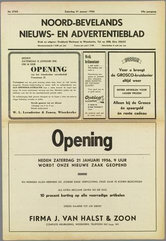 Noord-Bevelands Nieuws- en advertentieblad 1956-01-21