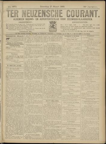 Ter Neuzensche Courant. Algemeen Nieuws- en Advertentieblad voor Zeeuwsch-Vlaanderen / Neuzensche Courant ... (idem) / (Algemeen) nieuws en advertentieblad voor Zeeuwsch-Vlaanderen 1920-03-27