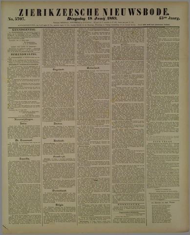 Zierikzeesche Nieuwsbode 1889-06-18