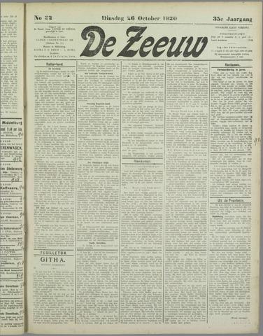 De Zeeuw. Christelijk-historisch nieuwsblad voor Zeeland 1920-10-26