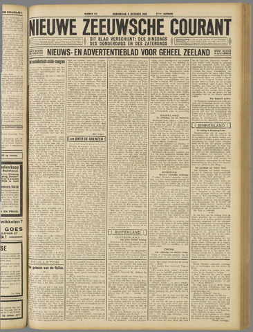 Nieuwe Zeeuwsche Courant 1931-10-08