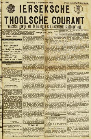 Ierseksche en Thoolsche Courant 1915-09-04