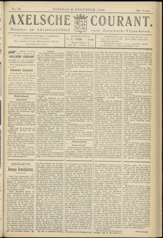 Axelsche Courant 1926-12-21