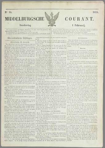 Middelburgsche Courant 1855-02-01