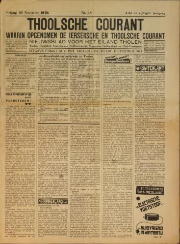 Ierseksche en Thoolsche Courant 1940-11-29
