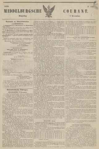 Middelburgsche Courant 1852-12-07