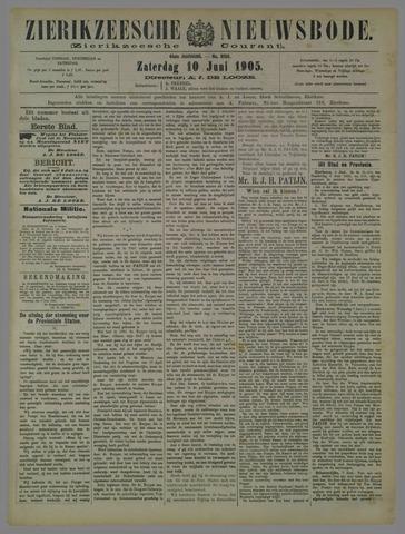 Zierikzeesche Nieuwsbode 1905-06-10