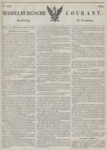 Middelburgsche Courant 1866-11-22