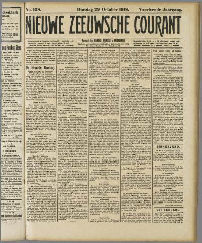 Nieuwe Zeeuwsche Courant 1918-10-29