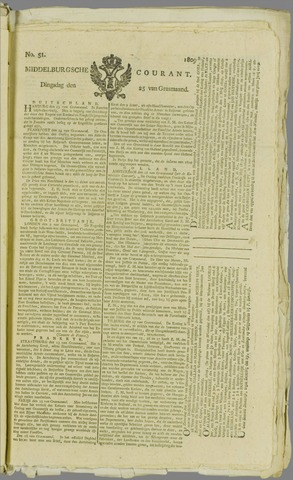 Middelburgsche Courant 1809-04-25