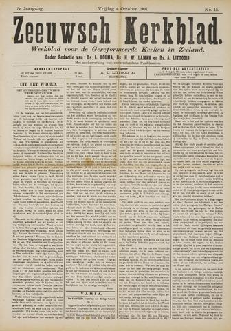 Zeeuwsche kerkbode, weekblad gewijd aan de belangen der gereformeerde kerken/ Zeeuwsch kerkblad 1907-10-04